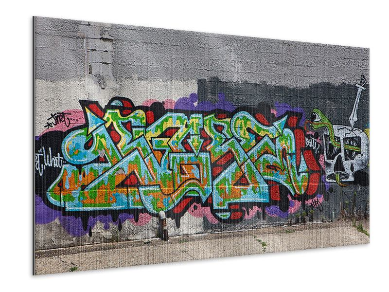 Metallic-Bild Graffiti in New York