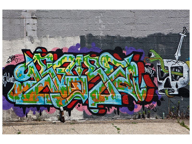 Metallic-Bild Graffiti in New York
