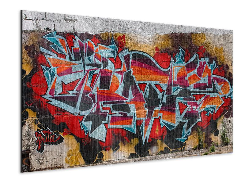 Metallic-Bild New York Graffiti
