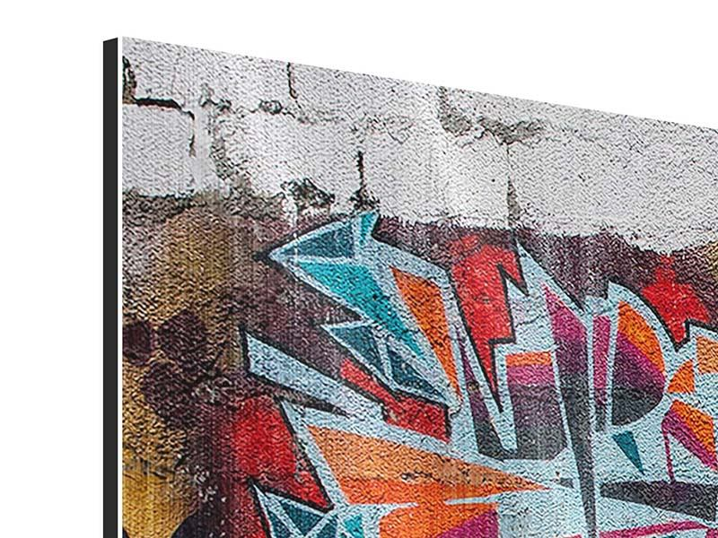 Metallic-Bild New York Graffiti