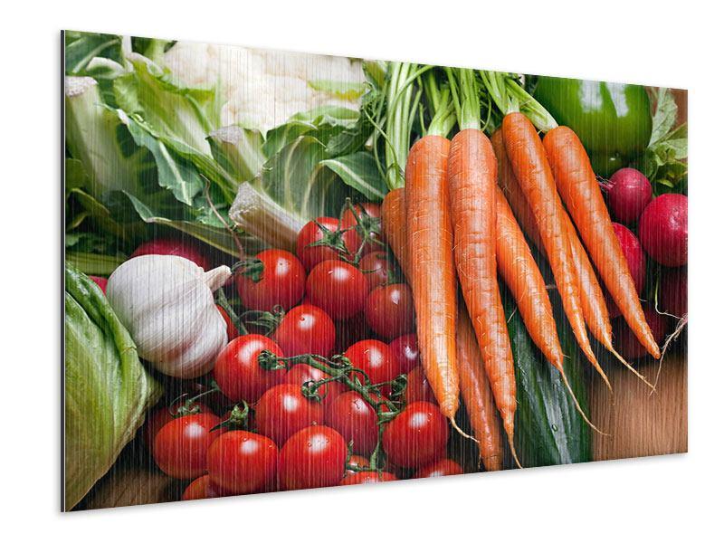 Metallic-Bild Gemüse