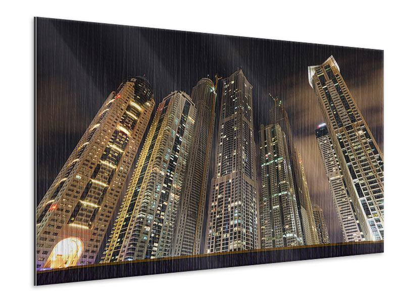 Metallic-Bild Wolkenkratzer Dubai Marina