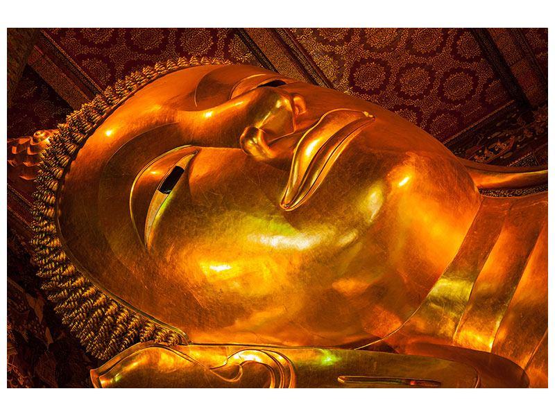 Metallic-Bild Liegender Buddha