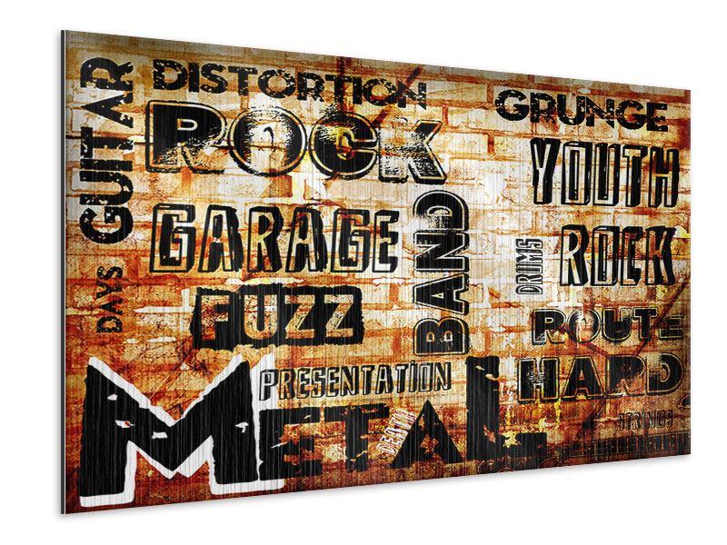 Metallic-Bild Rock im Grungestil