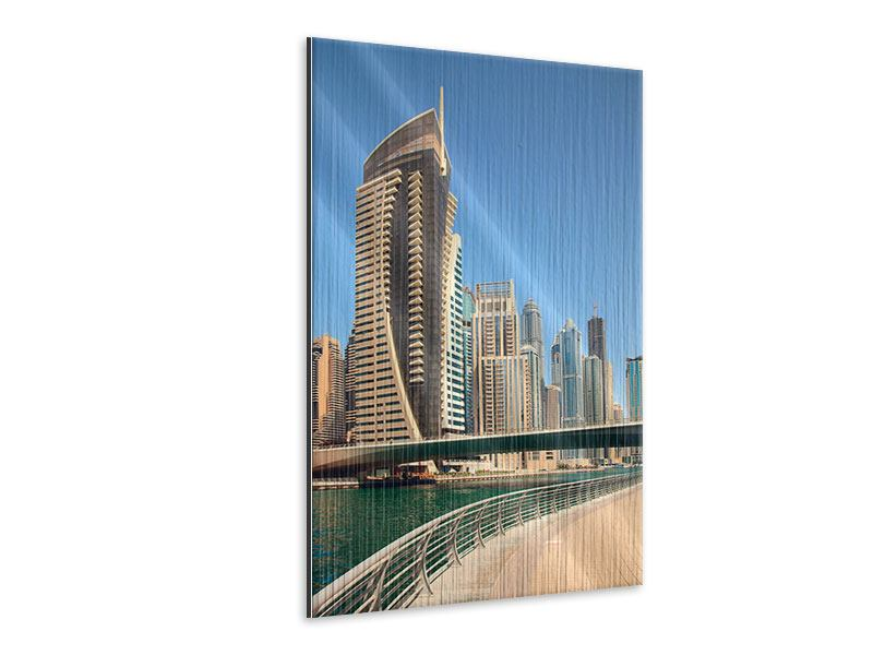 Metallic-Bild Spaziergang in Dubai