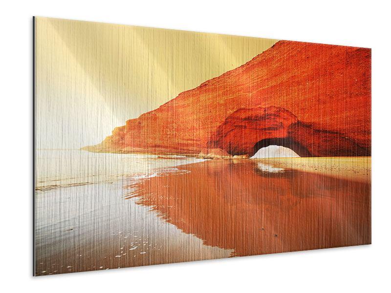 Metallic-Bild Wasserspiegelung