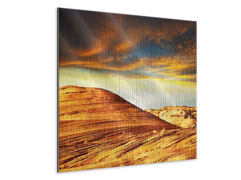 Metallic-Bild Die Wüste