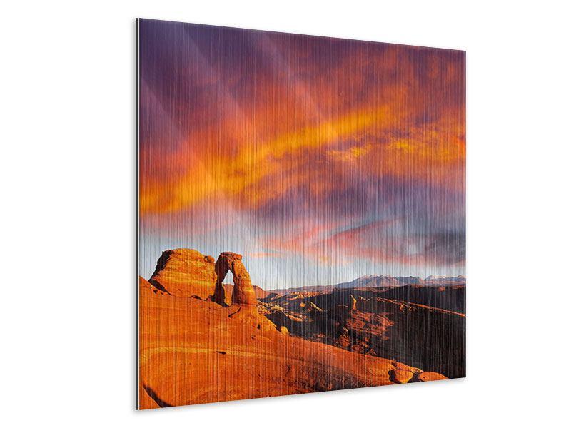 Metallic-Bild Sonnenuntergang im Canon