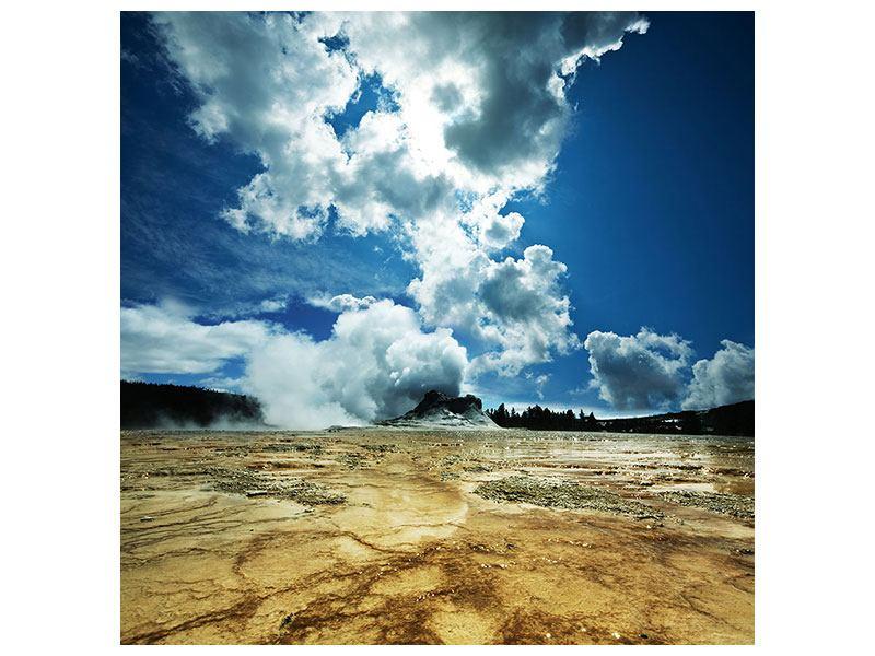 Metallic-Bild Vulkanlandschaft
