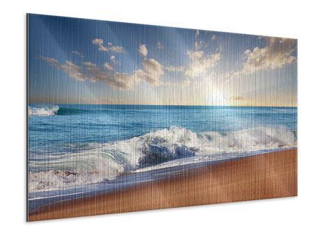 Metallic-Bild Die Wellen des Meeres
