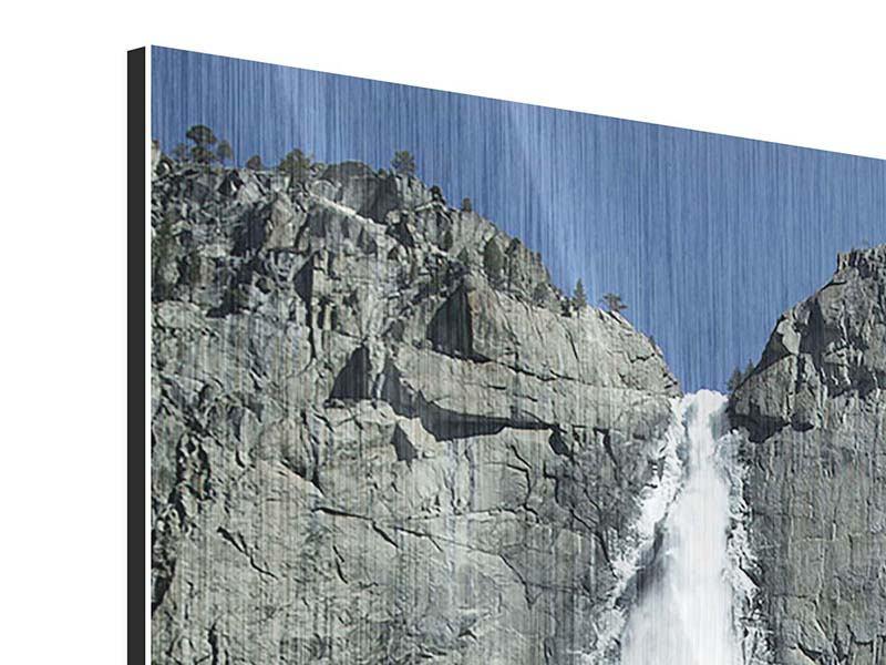 Metallic-Bild Wasserfall Yosemite