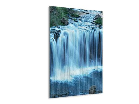 Metallic-Bild Am Wasserfall