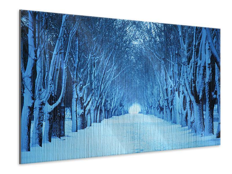 Metallic-Bild Winterbäume