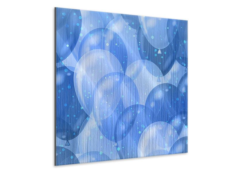 Metallic-Bild Blaue Ballons