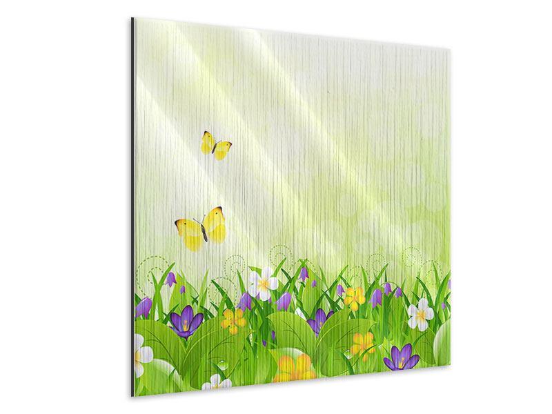 Metallic-Bild Lustige Schmetterlinge