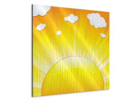 Metallic-Bild Die Sonne geht auf