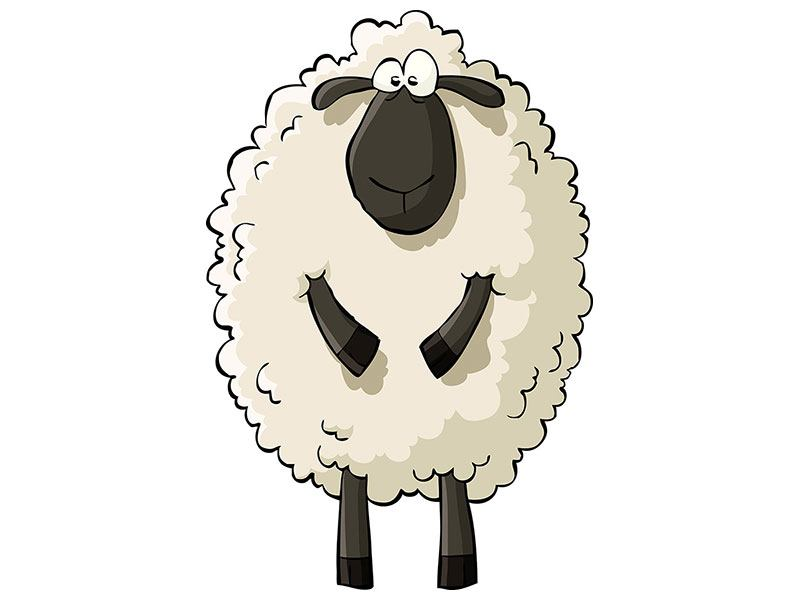 Metallic-Bild The Sheep