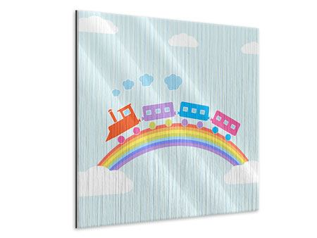 Metallic-Bild Der Regenbogenzug
