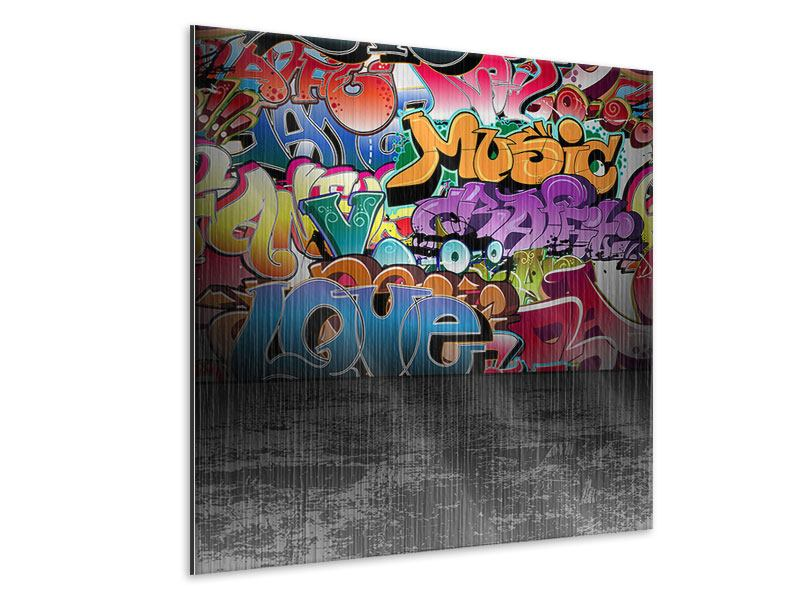 Metallic-Bild Graffiti-Writing