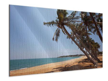Metallic-Bild Palmblätter
