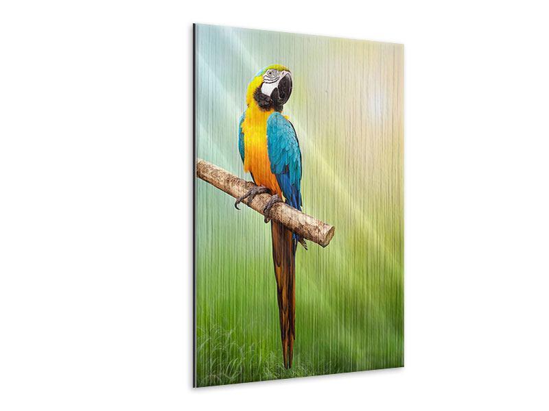 Metallic-Bild Der Papagei