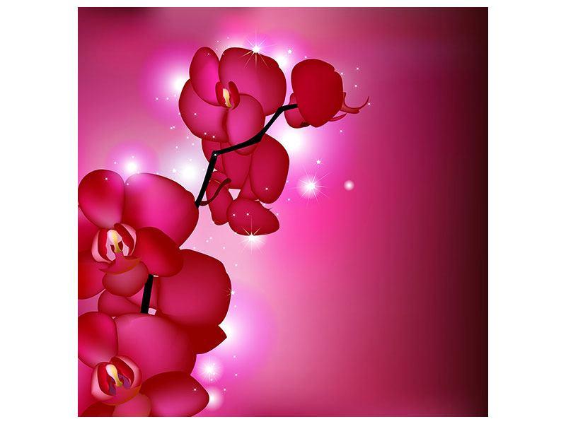 Metallic-Bild Orchideenmärchen