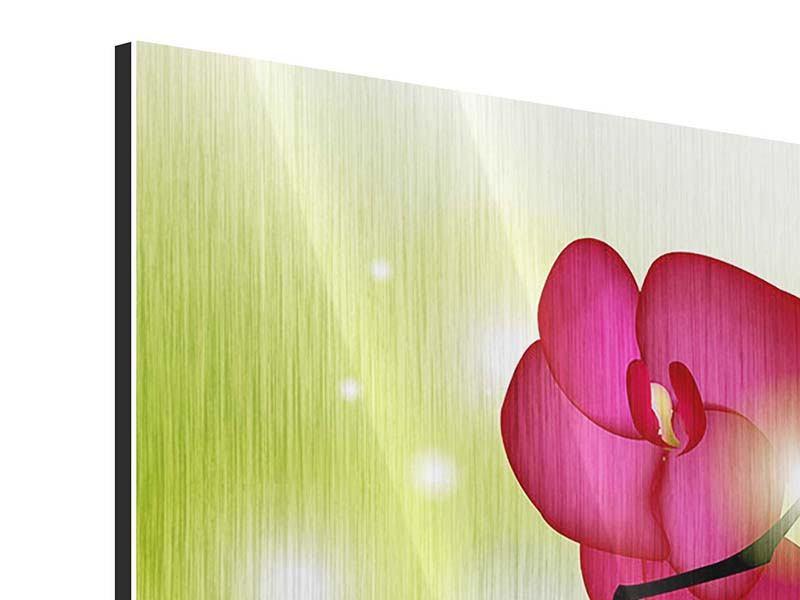 Metallic-Bild Heiligtum der Orchidee