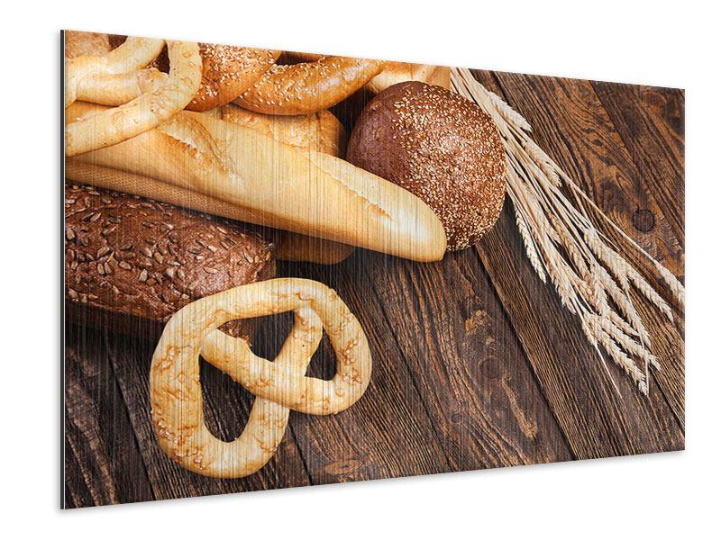 Metallic-Bild Brot und Bretzel
