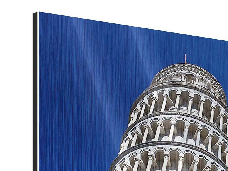 Metallic-Bild Der schiefe Turm von Pisa