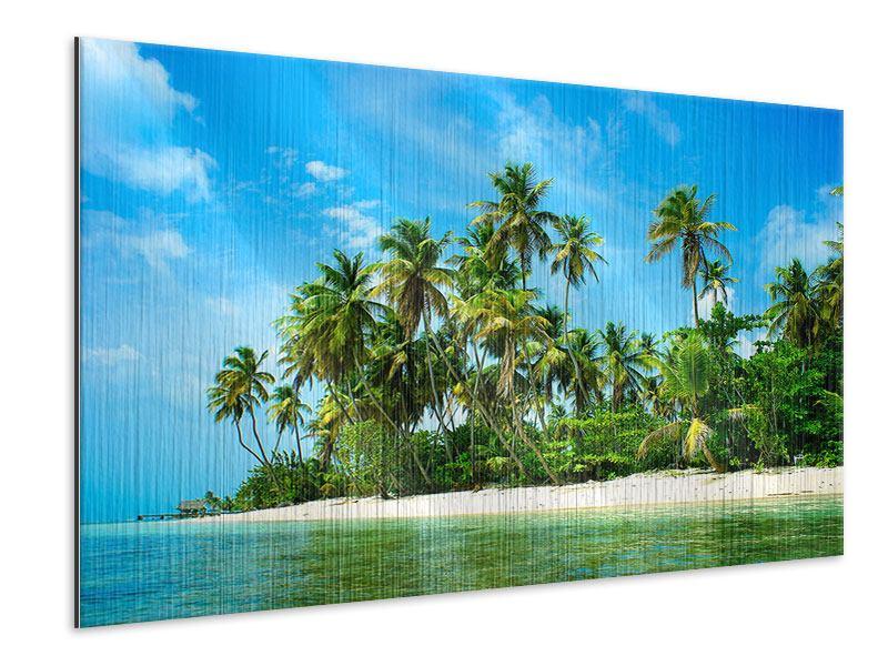 Metallic-Bild Reif für die Ferieninsel