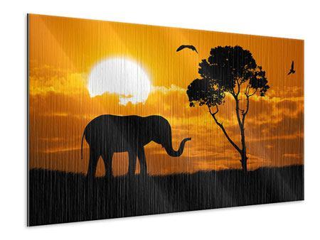 Metallic-Bild Verträumtes Afrika