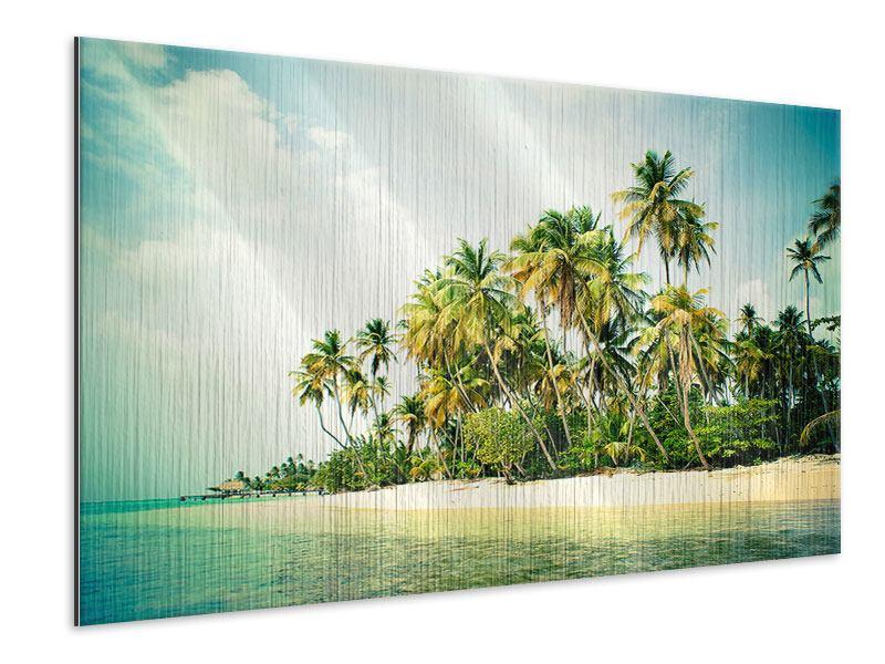 Metallic-Bild Tobago Cays