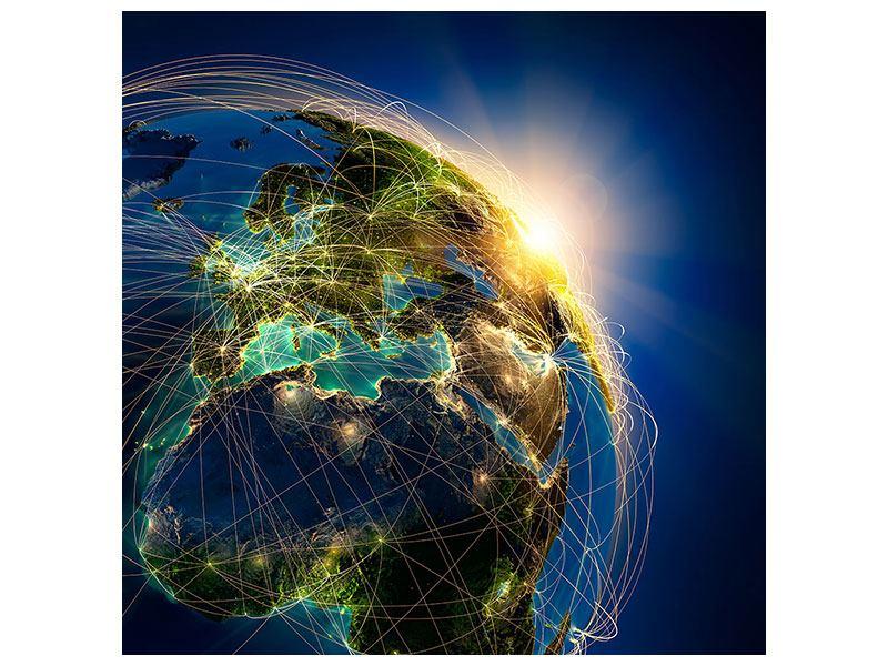 Metallic-Bild Der Planet Erde