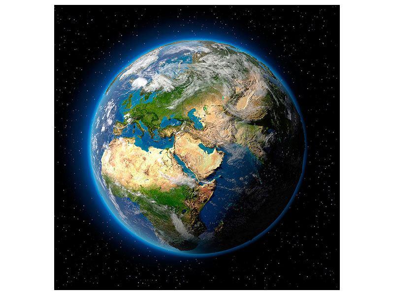 Metallic-Bild Die Erde als Planet