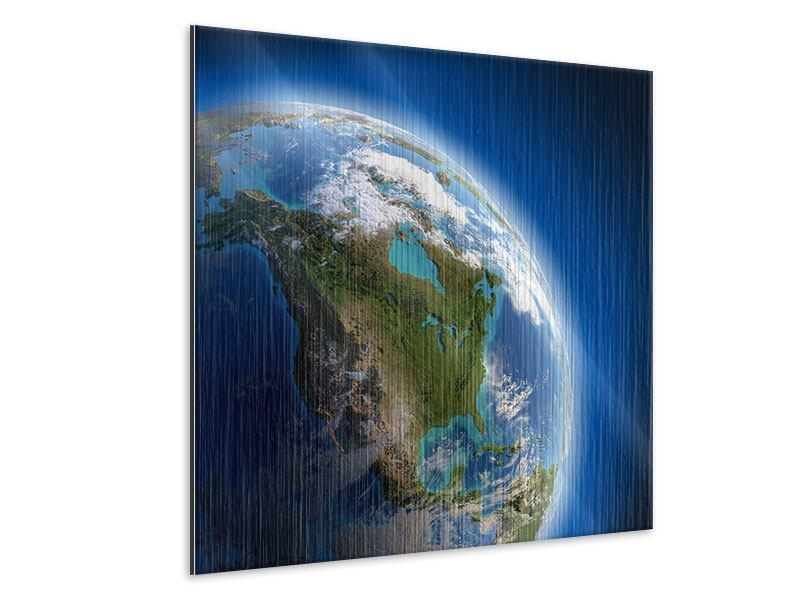 Metallic-Bild Die Erde
