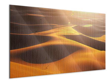Metallic-Bild Wüstenwanderung
