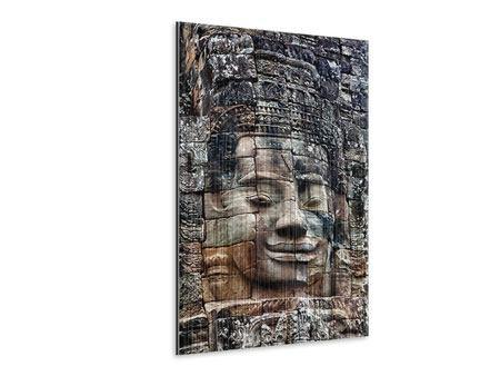 Metallic-Bild Buddha Angkor Thom
