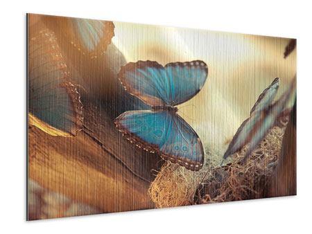 Metallic-Bild Schmetterlinge