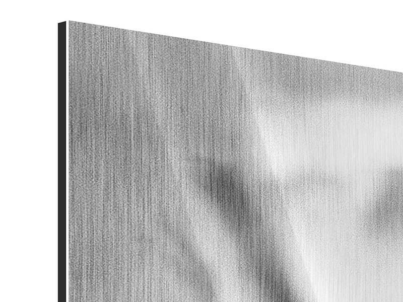 Metallic-Bild Makro Lilienblatt