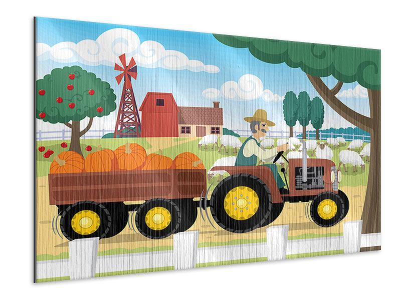Metallic-Bild Bauernhof
