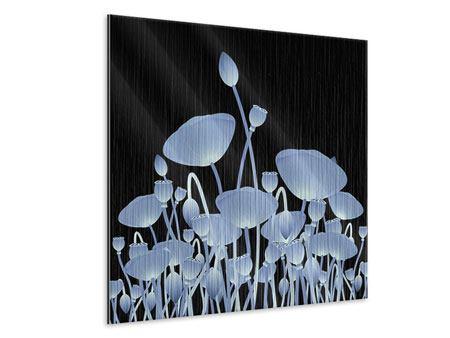 Metallic-Bild Futurische Blumen