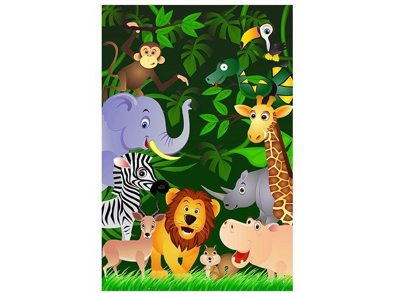 Metallic-Bild Dschungelsafari