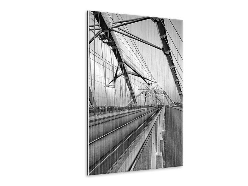 Metallic-Bild Auf der Brücke