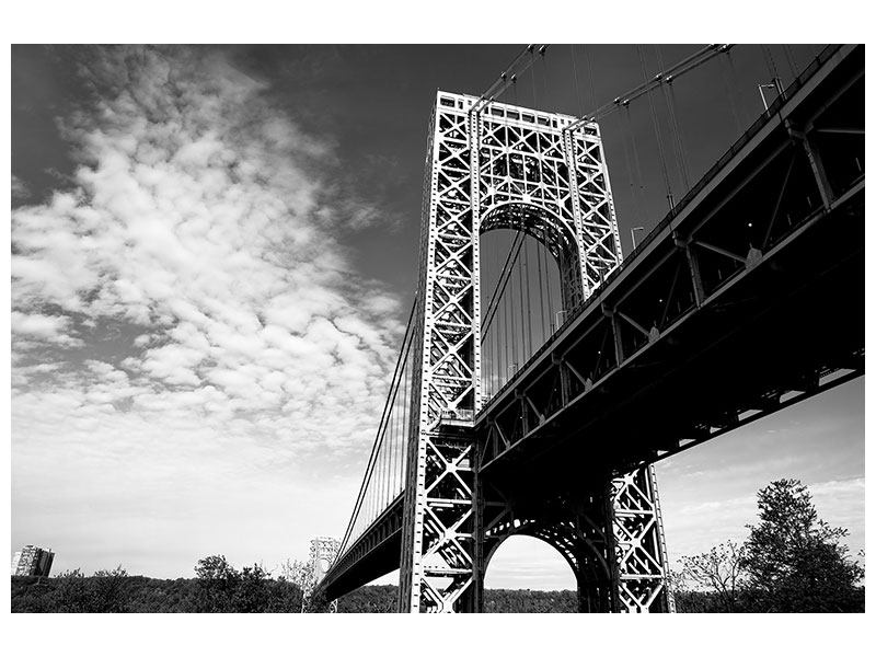 Metallic-Bild Georg-Washington-Bridge