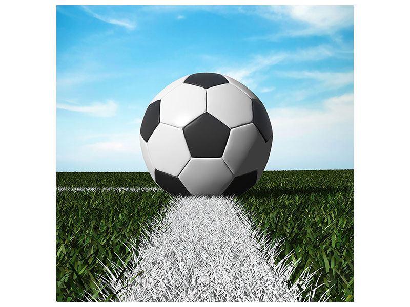 Metallic-Bild Der Fussball