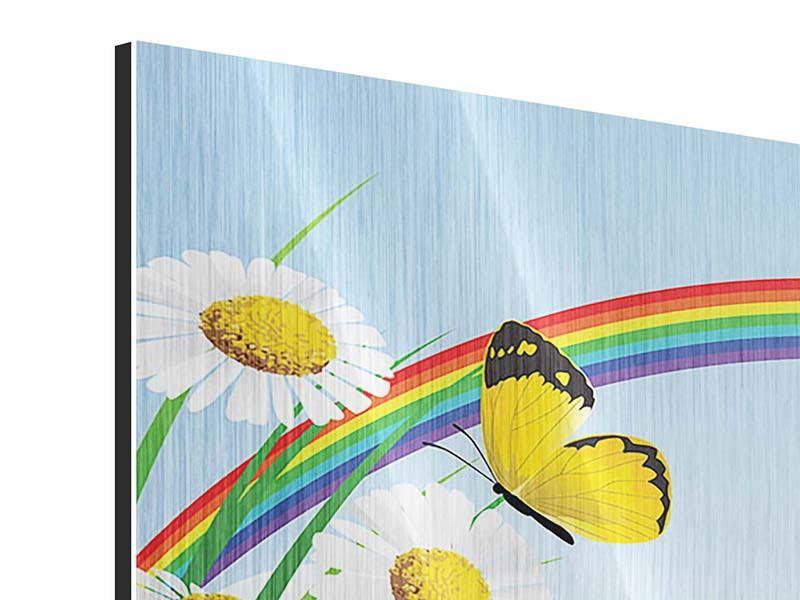Metallic-Bild Der bunte Regenbogen