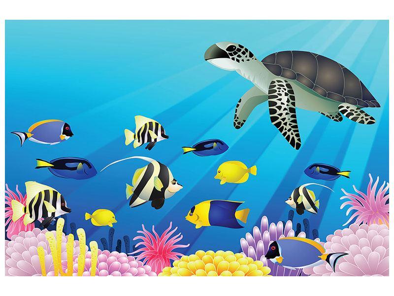 Metallic-Bild Kinder Unterwasserwelt