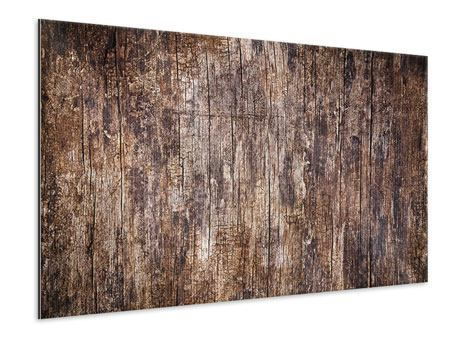 Metallic-Bild Retro-Holz