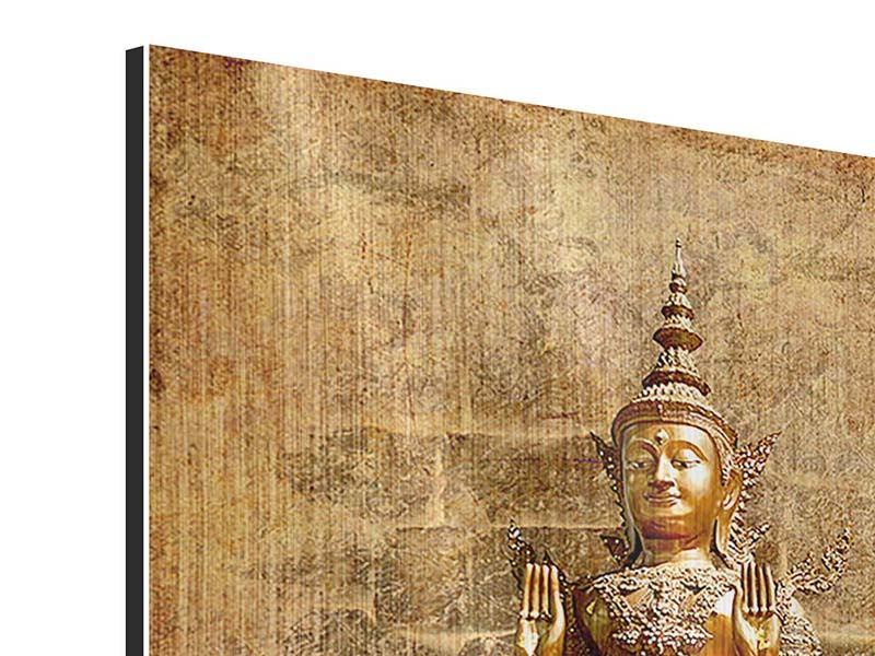 Metallic-Bild Goldene Buddha-Statue