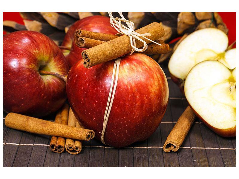Metallic-Bild Äpfel